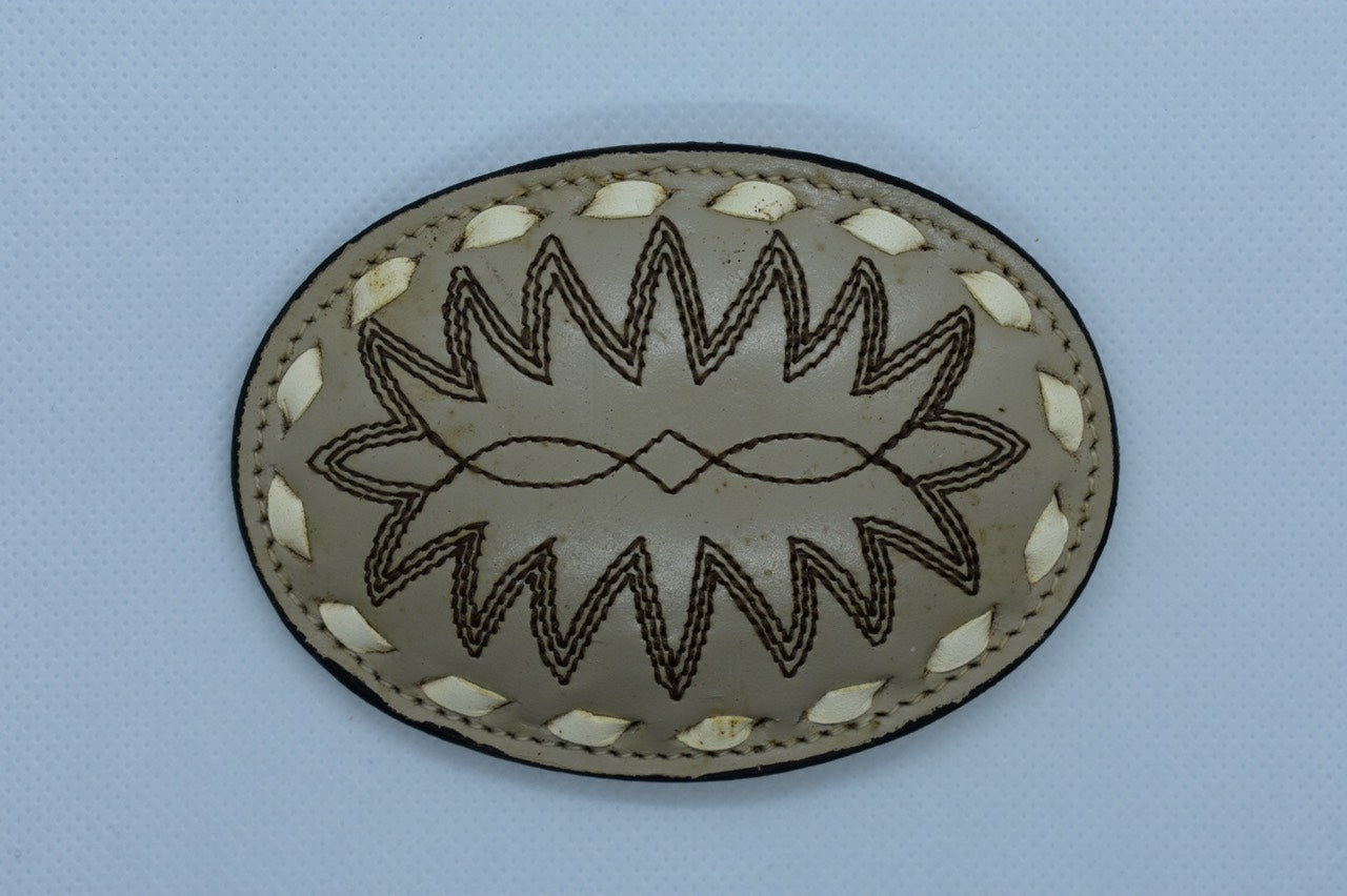 custom leather belt buckles western cowboy oval shaped