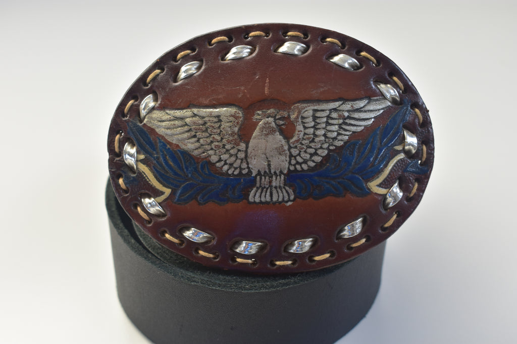 Leather Belt Buckles Western Eagle