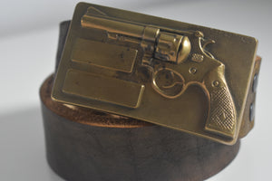 Custom Belt Buckles Gun