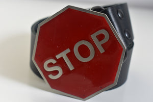 Stop Sign Belt Buckle
