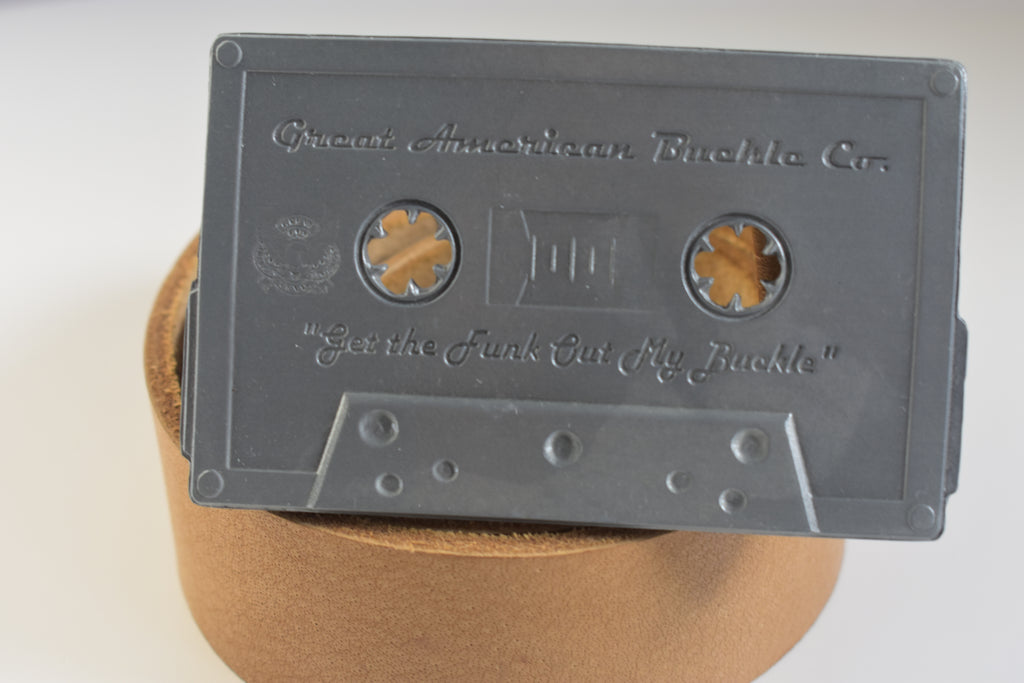 Custom Belt Buckle Cassette Tape