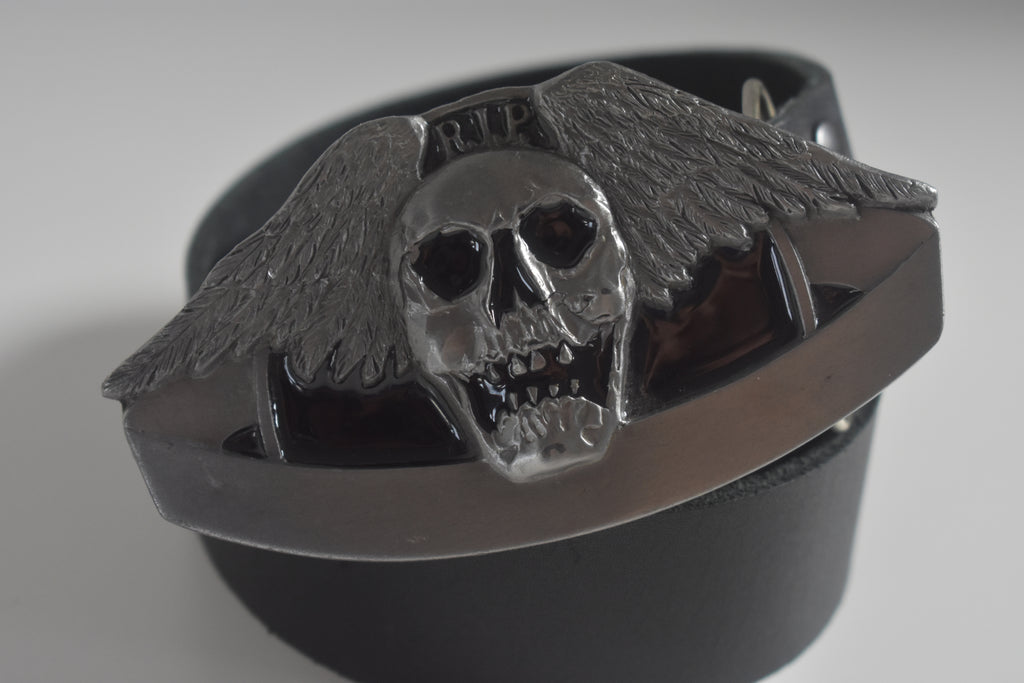 Custom Belt Buckles Winged Skull FANTASY ART