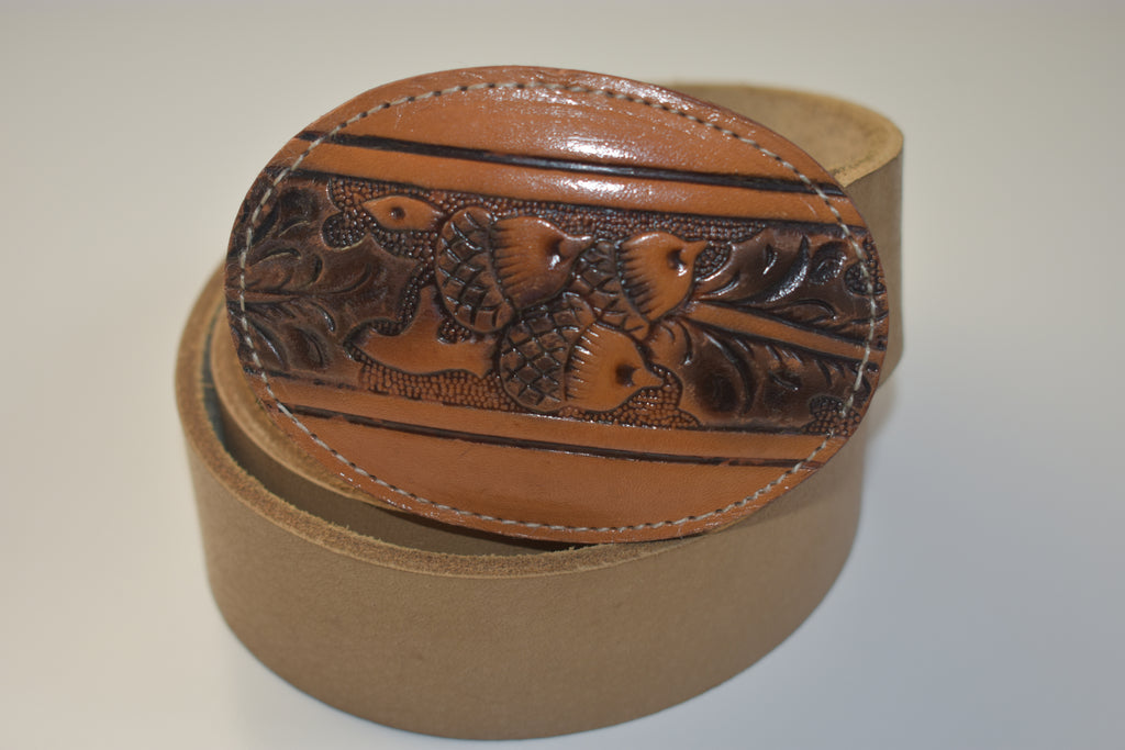 Leather Belt Buckles Acorn & Leaves