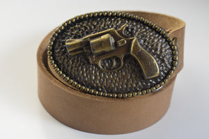 Custom Belt Buckles - Handgun