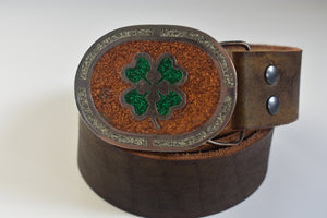 Custom Belt Buckles - Clover