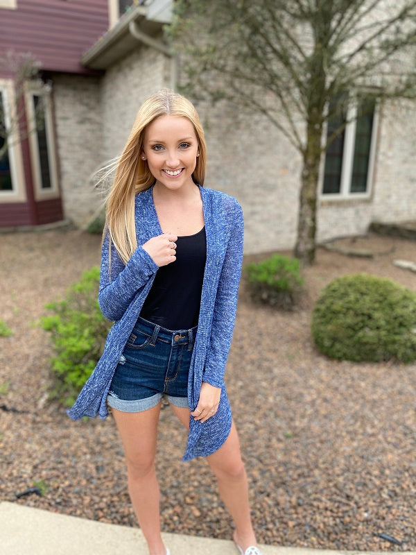 Heather Navy Cardigan