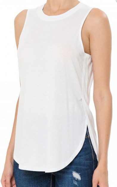 White Loose Fit Tank