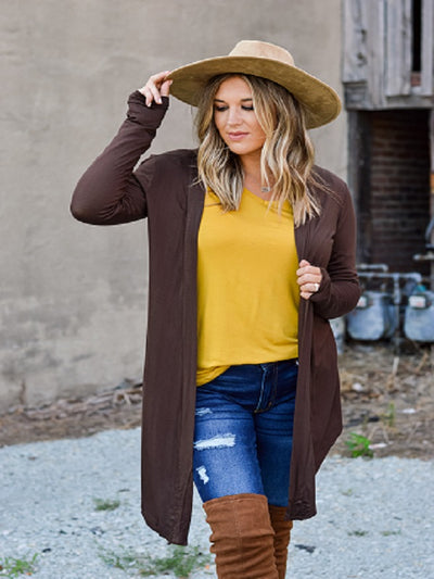 Americano(Brown) Long Sleeve Cardigan