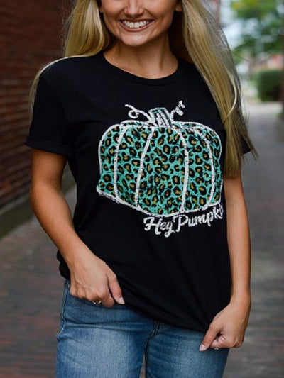 Black Hey Pumpkin Tee