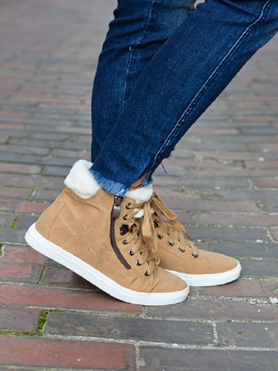 Camel High Top Sneaker