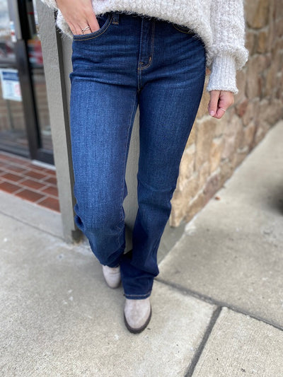 Mamie Judy Blue Boot Cut Dark Denim