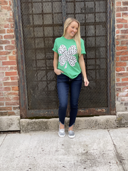 Dominique Green Dalmatian Clover Graphic Tee