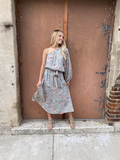 Angel Sage Floral Midi Dress