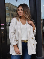 Kelsey Khaki Basic Jacket