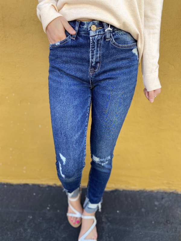 Kate Vervet High Rise Crop Jeans