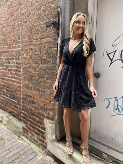 Ali Black Wrap Dress