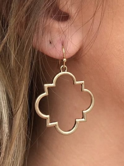 Gold Square Quatrefoil
