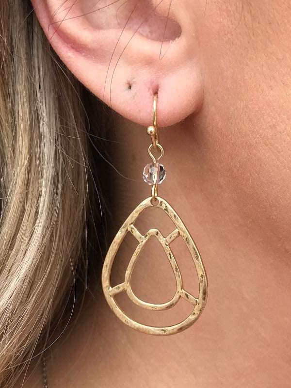 Gold Designed Teardrop