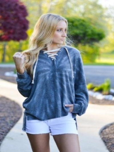 Charcoal Tie Dye Soft Cashmere Fleece Hoodie
