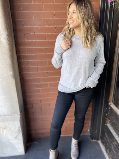 Ellie Heather Grey Sweater