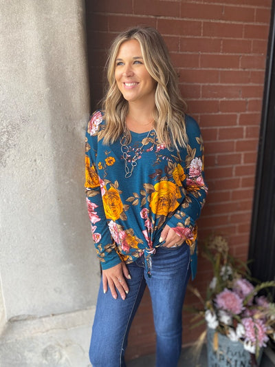 Green Plus Size Floral Top