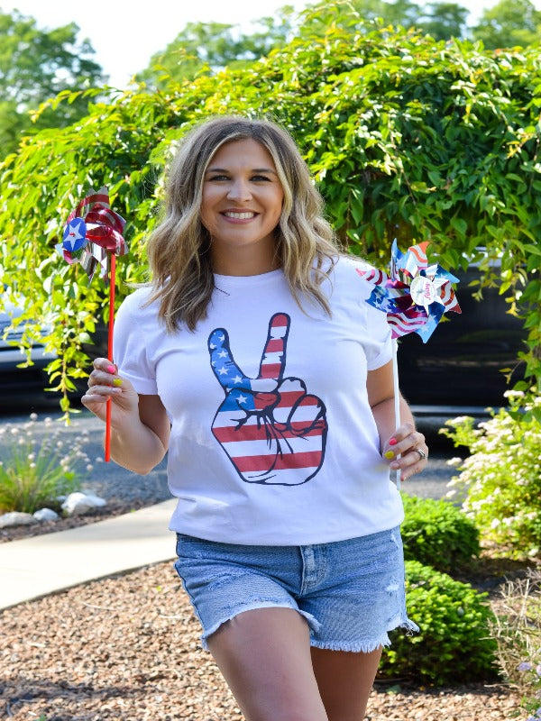 American Peace Sign Tee