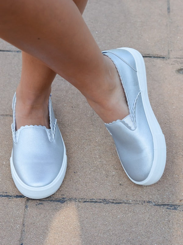 Savannah Silver Slip On Sneaker