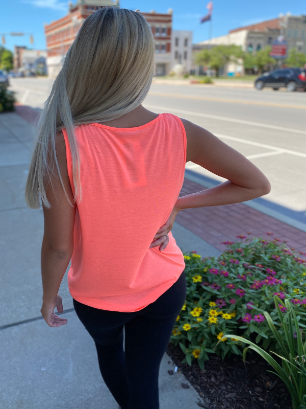 Coral Tank with Front Knot