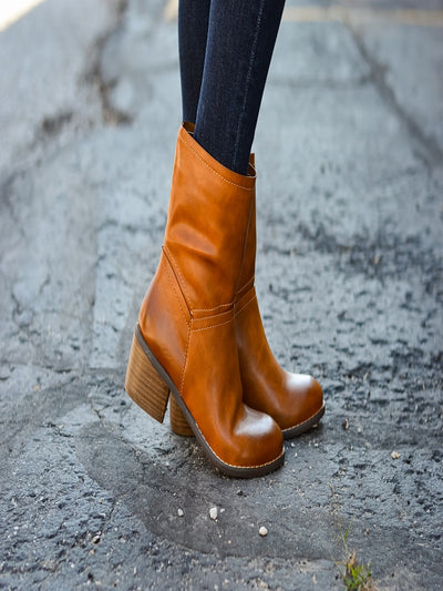 Selma Corkys Brown Pull on Booties