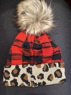 Buffalo Plaid Leopard Mix Hat