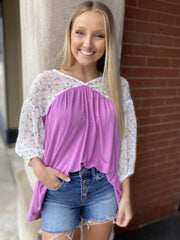 Jean Orchid Baby Doll Top