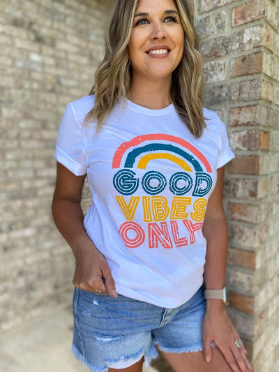 Good Vibes Only White Tee