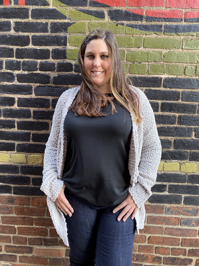 Grey Plus Size Cardigan