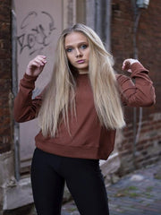 Hazelnut Crew Neck Sweater