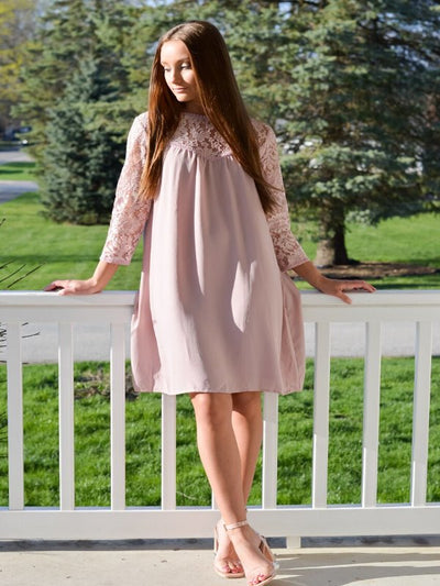 The Macie Mauve Dress