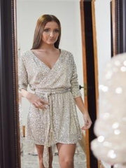 It's The Night Life Sequin Dress