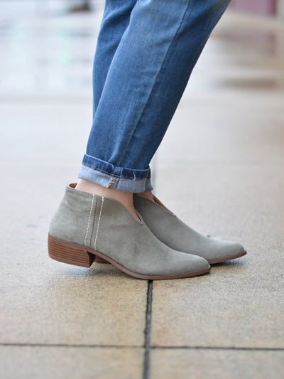 Ruby Kahki/Olive Booties