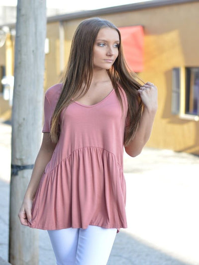 I Like Ruffles Also Mauve Top 16208