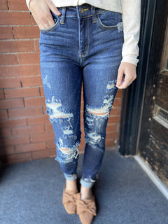 Molly Judy Blue Mid-Rise Jean