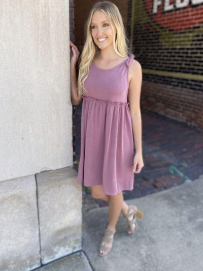 Sharon Mauve Baby Doll Dress