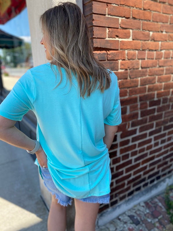 Plus Blue Mint Plus V-Neck Tunic