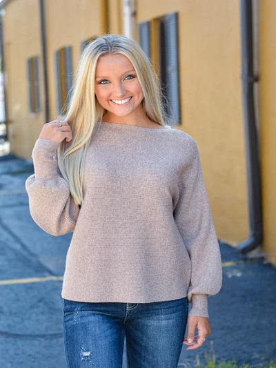 Mocha Ribbed Sweater