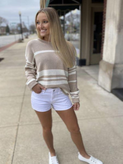 Kay Taupe Combo Sweater