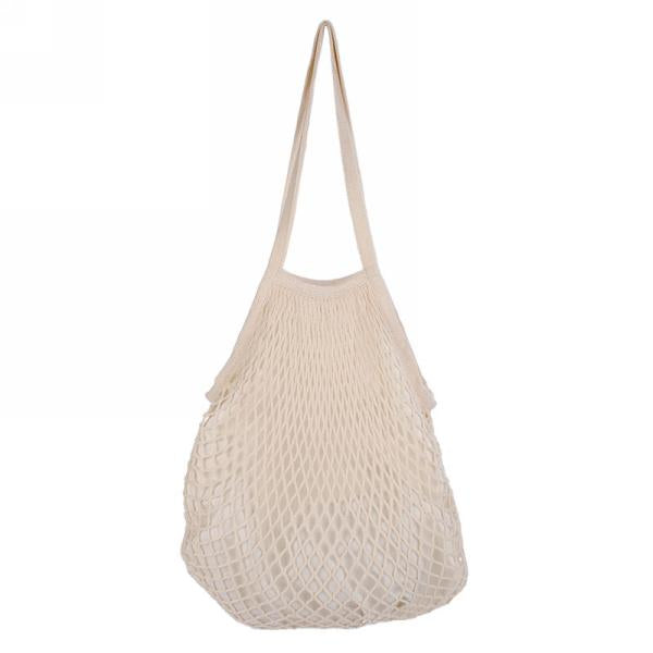 Cream net bag with lining