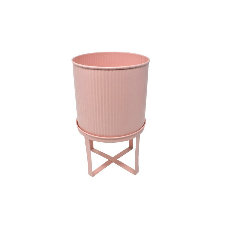 PLANTER WITH FEET PINK