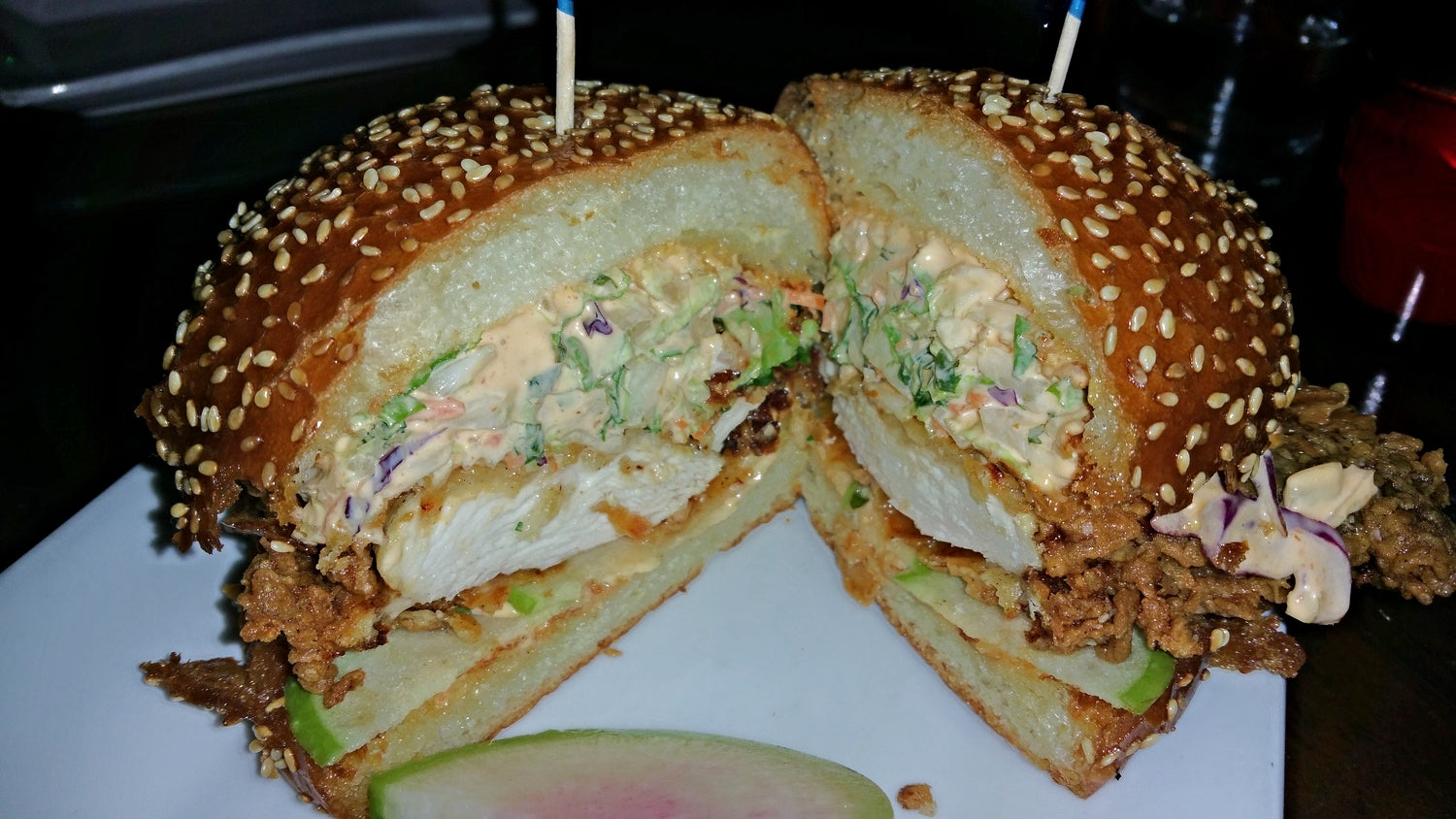 The Misfit in Santa Monica: best crispy chicken sandwich I've ever had
