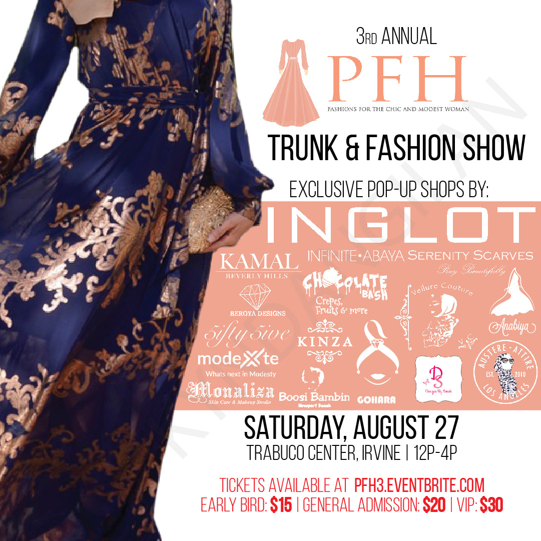 Few Days Left for Early Bird Tickets to the 3rd Annual PFH Trunk & Fashion Show