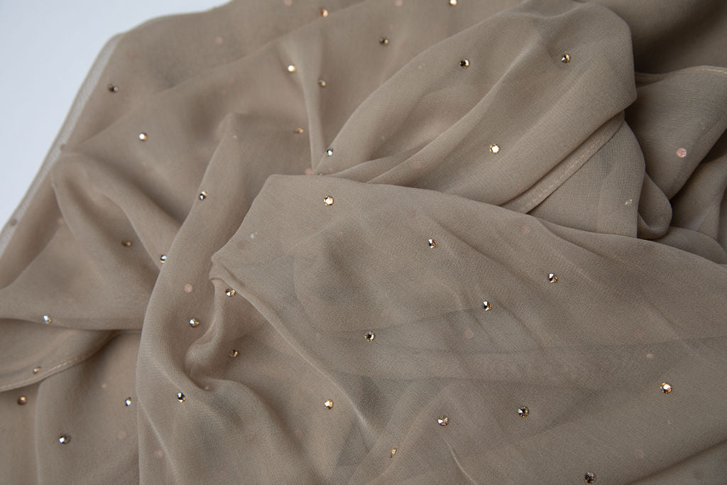 Gold Crystal Scatter Hijab
