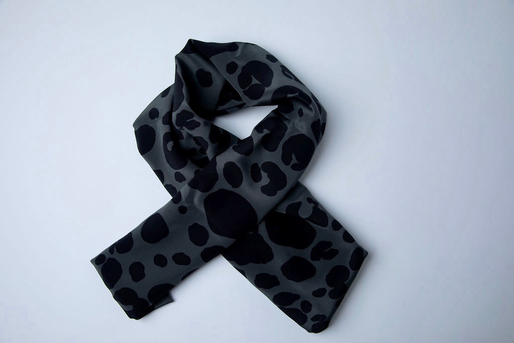 Pewter Grey Leopard Hijab