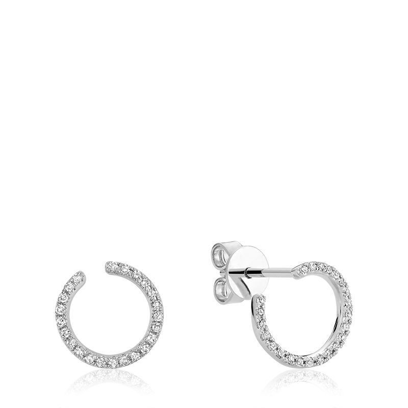 RnB Curl Diamond Earrings